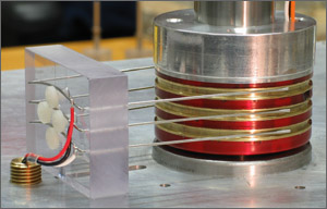 Slip ring assembly for naval missile launcher (above) and naval tracking radar (below).